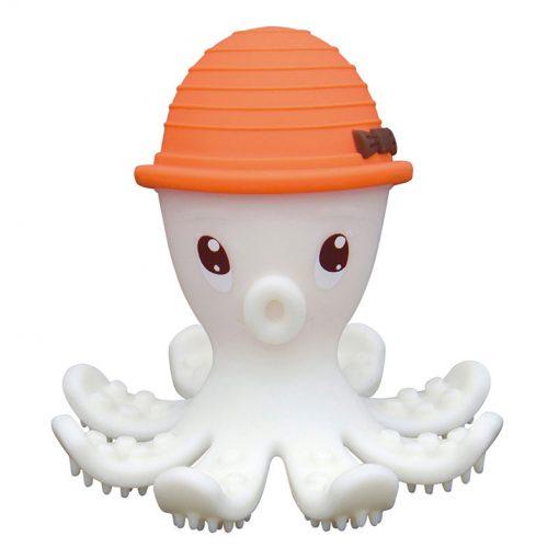 3D hryzátko chobotnica - Oranžová 1