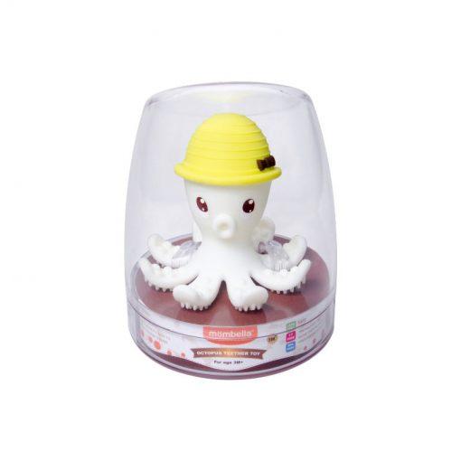 3D hryzátko chobotnica - Žltá 2