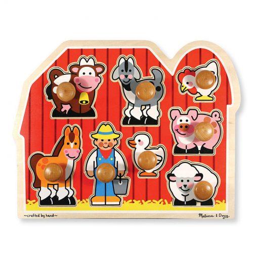 8 dielne drevené puzzle - Farma 1