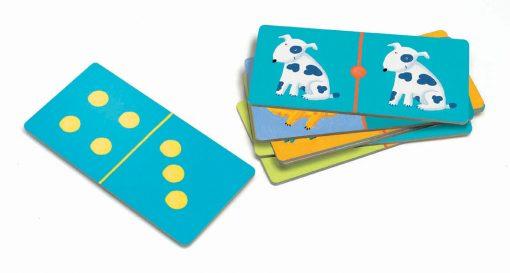 Domino Zvieratá a farby 3