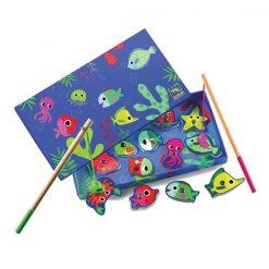 Drevená magnetická hra Farebné rybky 1