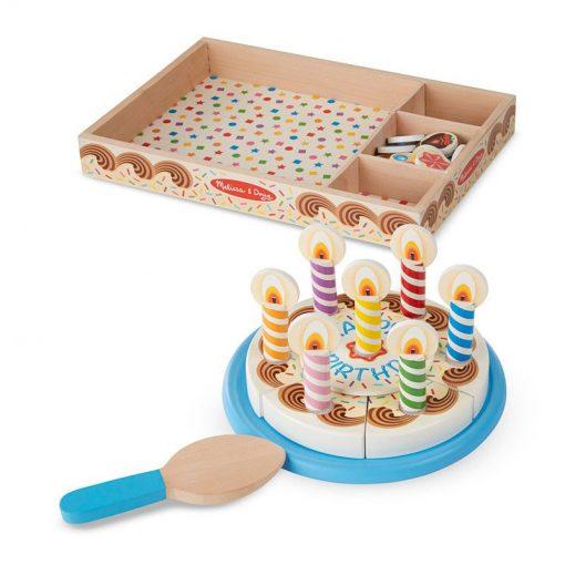 Drevená narodeninová torta 2