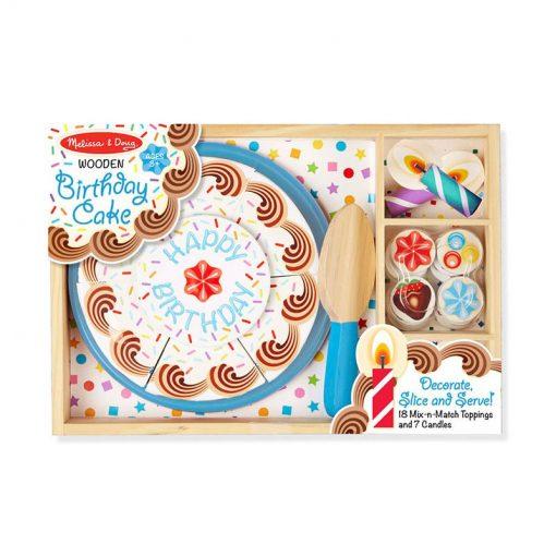 Drevená narodeninová torta 4