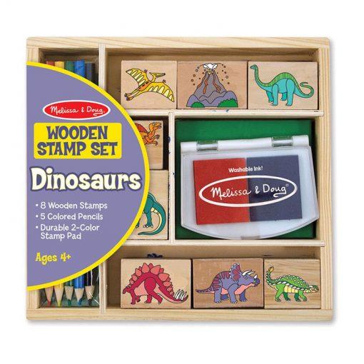 Drevená pečiatková sada - Dinosaury 1
