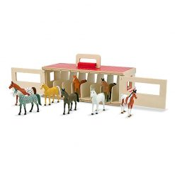 Drevená stajňa s koňmi 1