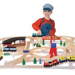 Drevená vlaková sada 3