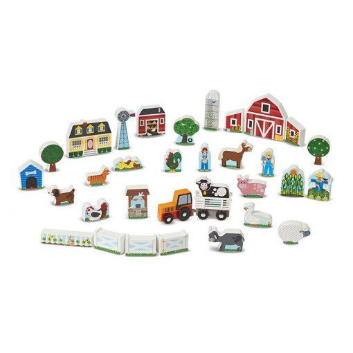 Drevená zostava - Farma a traktor 2