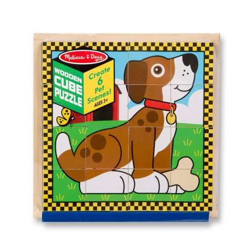 Drevené kocky - Domáce zvieratká 3
