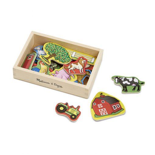 Drevené magnetky - Farma 1