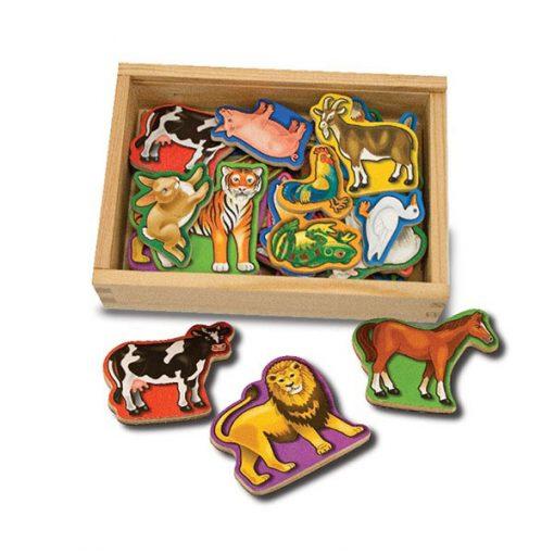 Drevené magnetky - Zvieratká 1