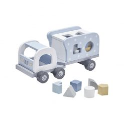 Drevené nákladné auto s kockami - blue 1