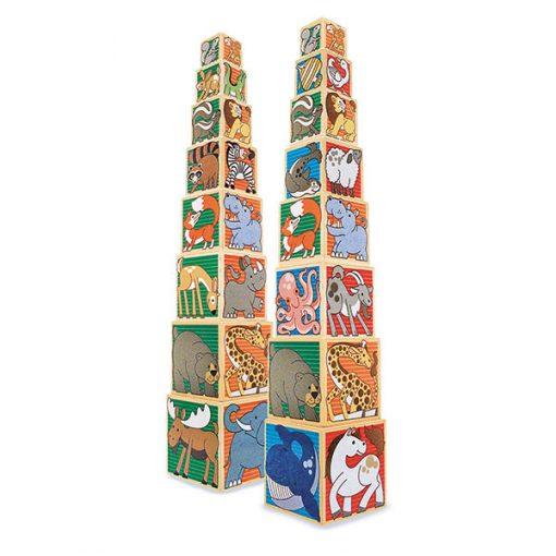 Drevené obrázkové kocky - Zvieratá 1