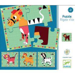 Drevené puzzle - Bláznivé zvieratká 1