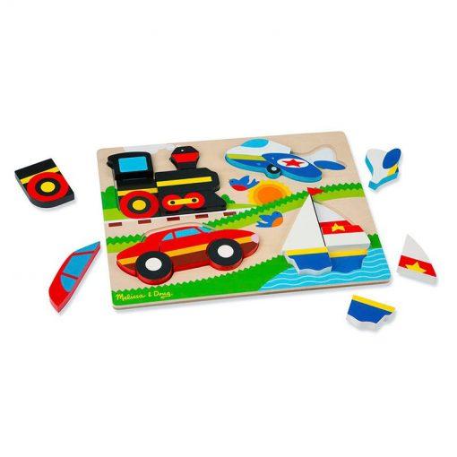 Drevené skladacie puzzle - Dopravné prostriedky 2