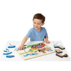 Drevené skladacie puzzle - Dopravné prostriedky 3