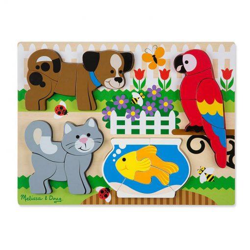 Drevené skladacie puzzle - Zvieratá 1