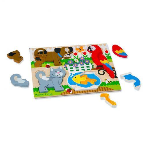 Drevené skladacie puzzle - Zvieratá 2