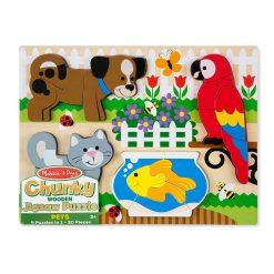 Drevené skladacie puzzle - Zvieratá 3