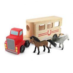 Drevené vozidlo na prepravu koní 1