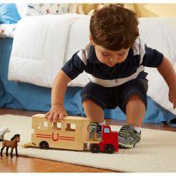 Drevené vozidlo na prepravu koní 3