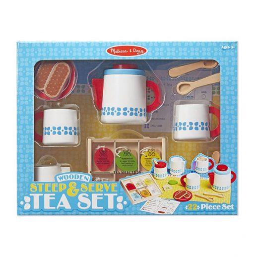 Drevený čajový set 3