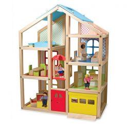 Drevený domček so zariadením 1