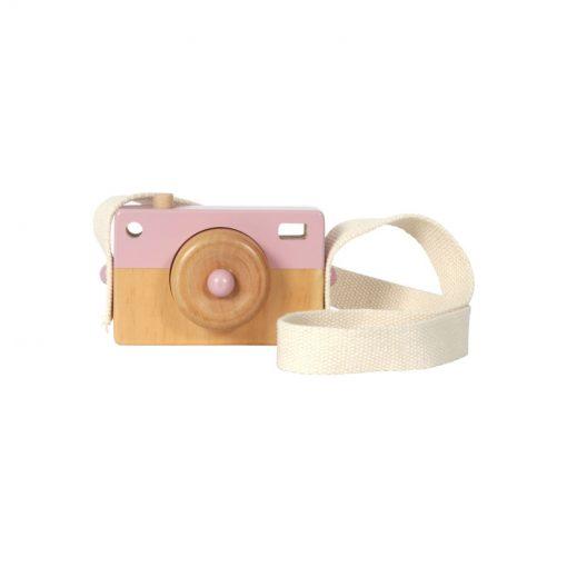 Drevený fotoaparát - ružová 1