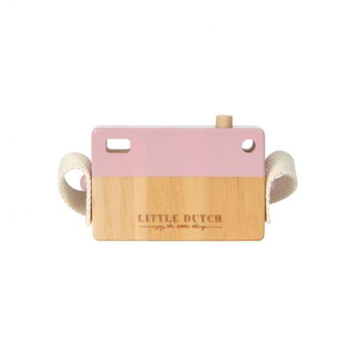 Drevený fotoaparát - ružová 2