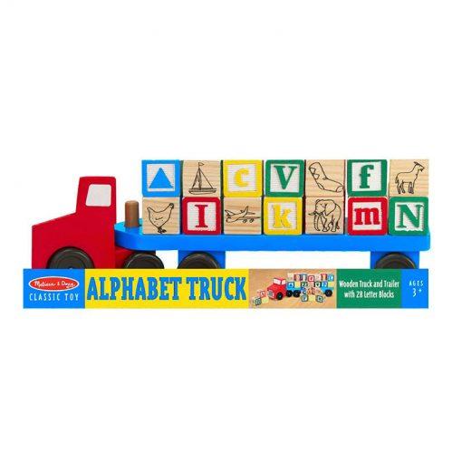 """Drevený kamion s """"abc"""" kockami 3"""