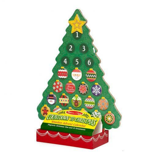 Drevený magnetický adventný kalendár 3