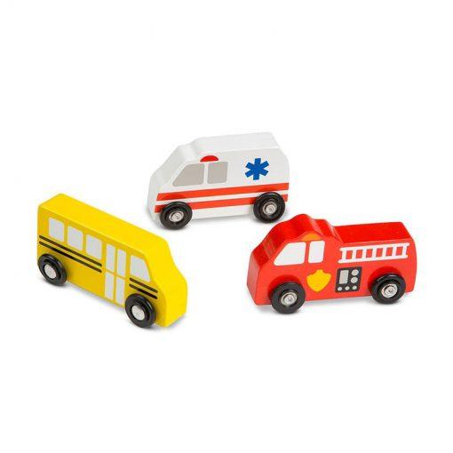 Drevený set - Mestské vozidlá 2