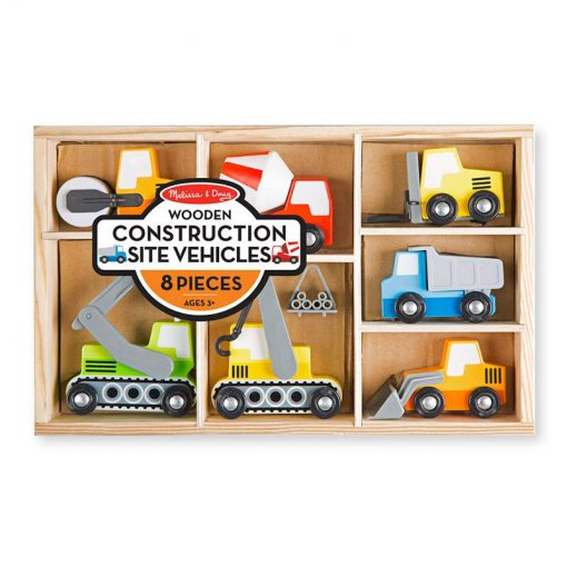 Drevený set - Stavebné vozidlá 1