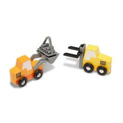 Drevený set - Stavebné vozidlá 2