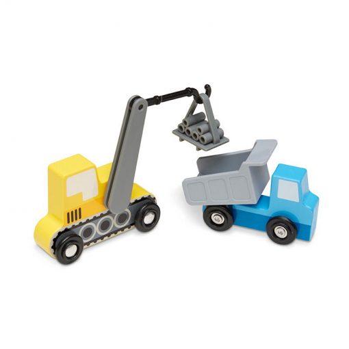 Drevený set - Stavebné vozidlá 3