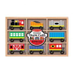 Drevený set - Vlak s vagónmi 1