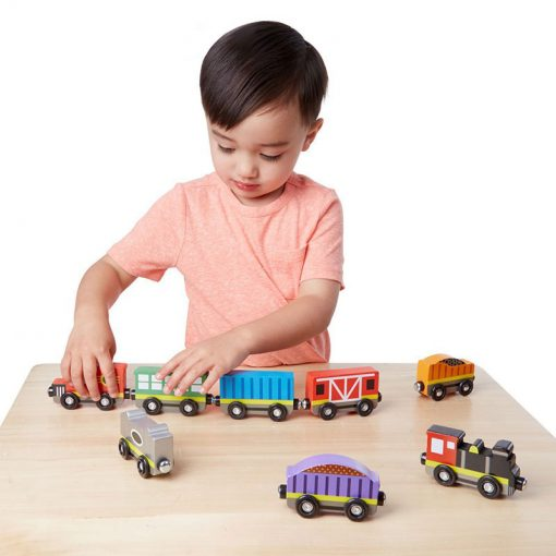 Drevený set - Vlak s vagónmi 2