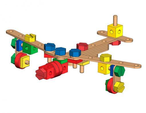 Dverená stavebnica v krabici 3
