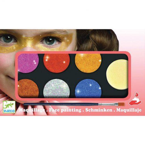 Farby na tvár - Metalické farby 1