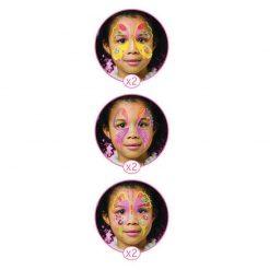 Farby na tvár - Motýle 2