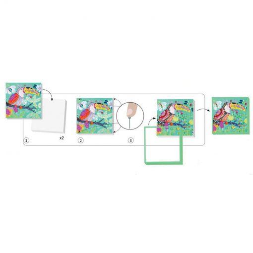 Flitrové obrázky - Bujné vtáky 2