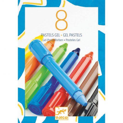 Gélové pastelky - základné farby (8 ks) 1