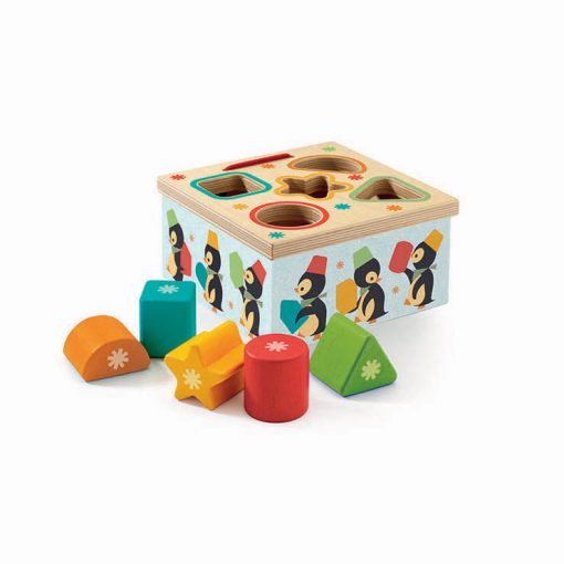 Hračka pre najmenších Geo Junzo - Vkladanie tvarov Tučniaci 1