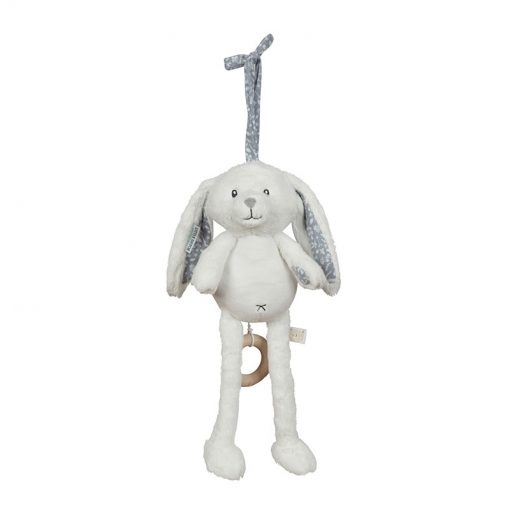 Hrajúci plyšový zajačik - modrá 1
