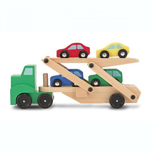 Kamiónik na autá a drevené autíčka 1