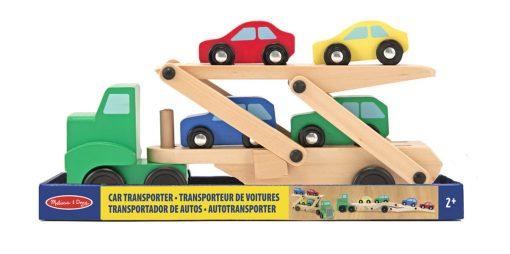 Kamiónik na autá a drevené autíčka 3