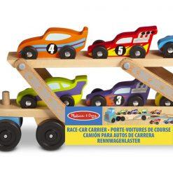Kamiónik na autá a drevené pretekárske autíčka 2