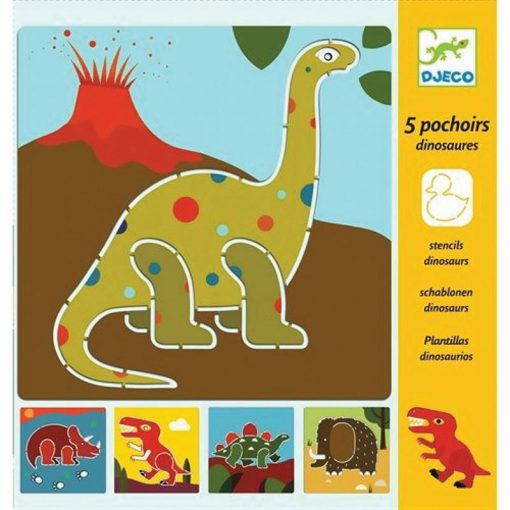 Kreslenie podľa šablóny Dinosaury 1