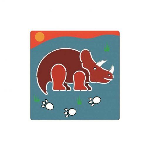 Kreslenie podľa šablóny Dinosaury 4