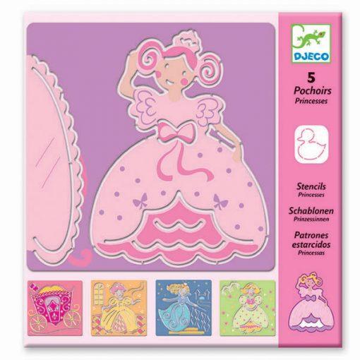 Kreslenie podľa šablóny Princezničky 1