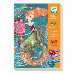 Kreslenie s farebnými gliterkami - Morské panny 1